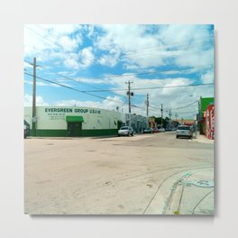 STREETART SILL LIFE - MIAMI by Jay Hops Metal Print