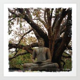 Buddha Statue at Abhayagiri Stupa 2 Art Print