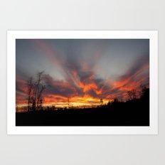 South Georgia Sky on Fire 2 Art Print