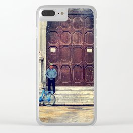 Trapani art 25 Clear iPhone Case