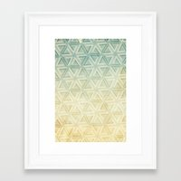 escher Framed Art Prints featuring escher pattern by Vin Zzep
