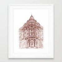 takmaj Framed Art Prints featuring Facade by takmaj