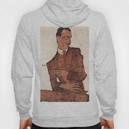 Egon Schiele - Portrait of Arthur Rossler Hoody
