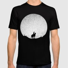 The Rising Sunset MEDIUM Black Mens Fitted Tee