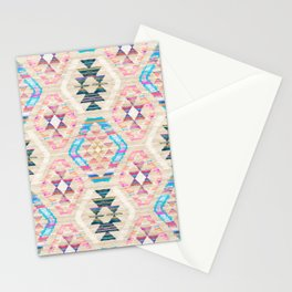 Woven Textured Pastel Kilim Pattern Stationery Cards