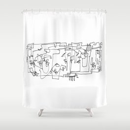 Whispering And Listening Shower Curtain