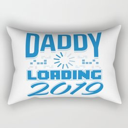 Baby Is Loading Boy Girl For Dad Announcement Gift Rectangular Pillow