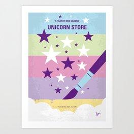 No1069 My Unicorn Store minimal movie poster Art Print