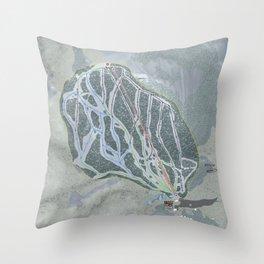 White Pine Resort Trail Map Throw Pillow