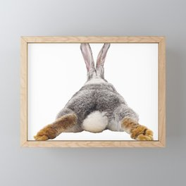 Cute Bunny Rabbit Tail Butt Image Easter Animal Framed Mini Art Print
