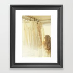 ginger and lace Framed Art Print