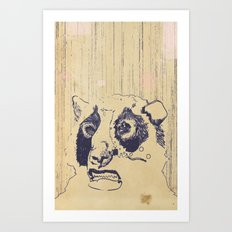 Bear Lip  Art Print