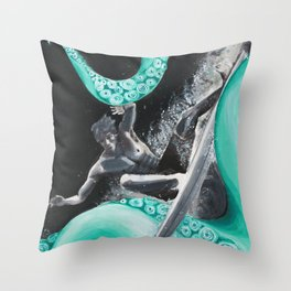 Octo-Surf Throw Pillow