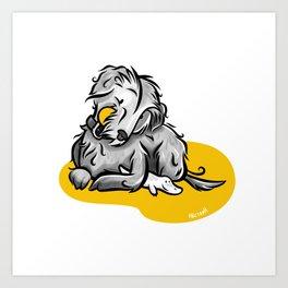 The Maltese dog Art Print
