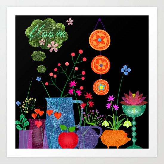 bloom in dark Art Print
