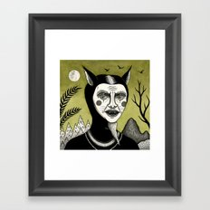 Twilight Green Framed Art Print
