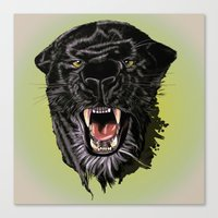 panther Canvas Prints featuring Panther by Tish
