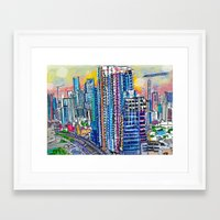 miami Framed Art Prints featuring Miami  by Nadyia Duff