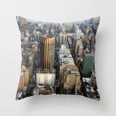 New York from the top Throw Pillow