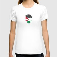 palestine T-shirts featuring Flag of Palestine on a Chaotic Splatter Skull by Jeff Bartels