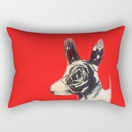 Red bulldog Rectangular Pillow