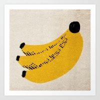 banana Art Prints featuring Banana by Roland Lefox