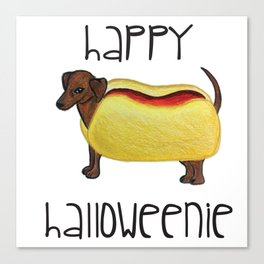 Happy Halloweenie Canvas Print