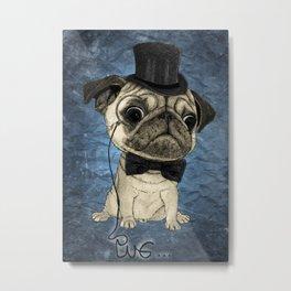 Pug; Gentle Pug (color version) Metal Print