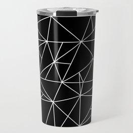 Geometric Abstract - Triangles #2 (White) Travel Mug