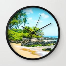 Mokapu Beach Pacific Ocean Tropical Beauty Maui Hawaii Wall Clock