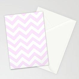Pale purple (Pantone) - pink color - Zigzag Chevron Pattern Stationery Cards