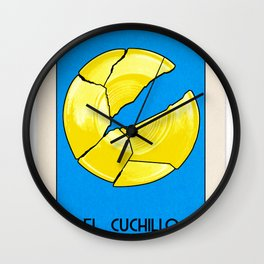 BB Loteria Card No.14 - The Knife Wall Clock