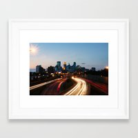 minneapolis Framed Art Prints featuring Minneapolis by Ben Erickson