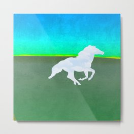 The flight of the enchanted horse Metal Print