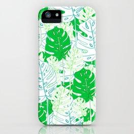 Banana Leaf in Teal iPhone Case