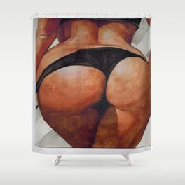 Do you like big booty bitches? Then your gonna love this picture. Shower Curtain