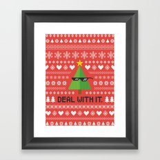 Deal with It. Framed Art Print
