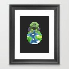 The World Breaker Framed Art Print