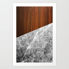 Wooden Marble Art Print