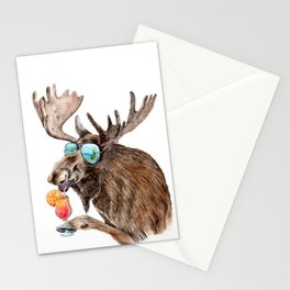 Moose on Vacation Stationery Cards