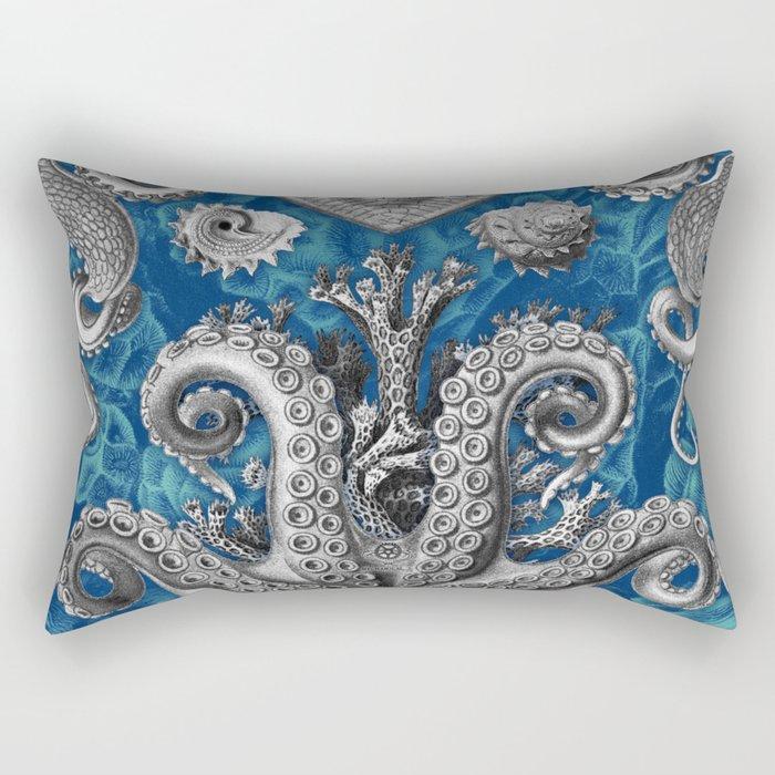 The Kraken (Blue - No Text) Rectangular Pillow