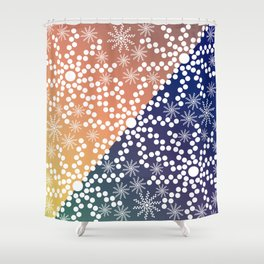 Abstract Mixed Media Series Sunshine 06 Shower Curtain
