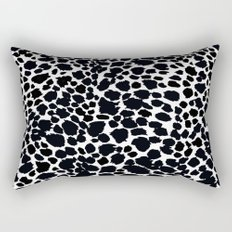 Animal Print Cheetah Black and White Pattern #4 Rectangular Pillow