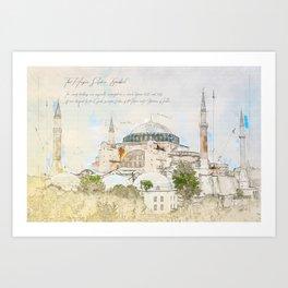 Hagia Sophia, Istanbul Art Print