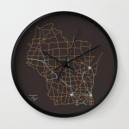 Wisconsin Highways Wall Clock