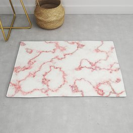 Pink Sparkle Wavy Lines Abstract Rug