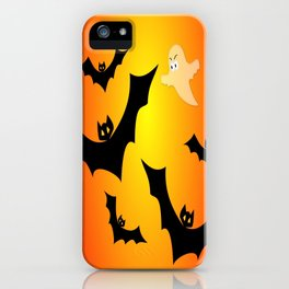 Bats and a Ghost iPhone Case