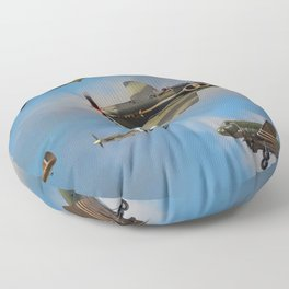 Vintage Aircraft Floor Pillow