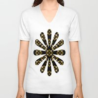 floral pattern V-neck T-shirts featuring Floral Pattern by Christina Rollo