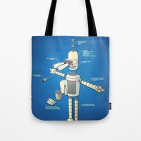 bender Tote Bags featuring Bender by Enrique Guillamon